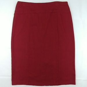 New York & Company Red & Black Pencil Skirt 12